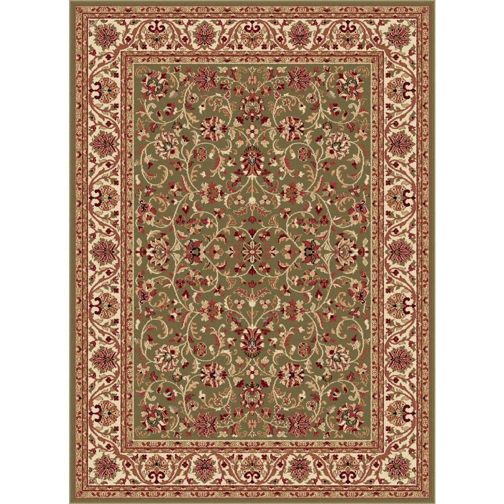 tayse rugs sensation green 7 ft 10 in x 10 ft 6 in transitional area rug 4815 green 8x11. Black Bedroom Furniture Sets. Home Design Ideas