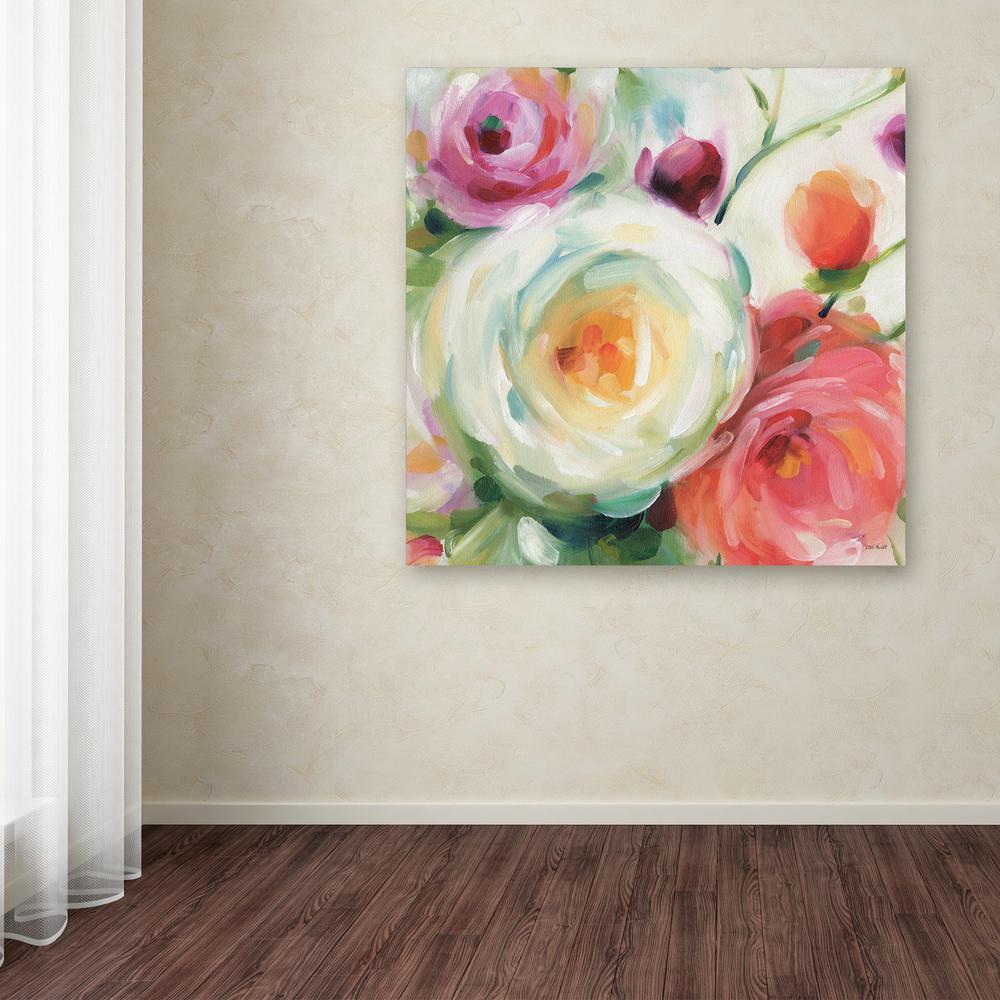 "35 in. x 35 in. ""Florabundance II"" by Lisa Audit Printed Canvas Wall Art"