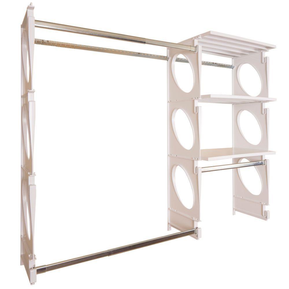 Urban Intermediate 4 ft. to 5 ft. White Closet Shelving Kit