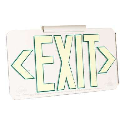 Mirror Glow-in-the-Dark Energy-Free Photoluminescent UL924 Emergency Exit Sign(LED Light Compliant)Mounting Kit Included