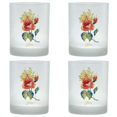14 oz. Floral Bouquet Classic Double Old-Fashioned Glass