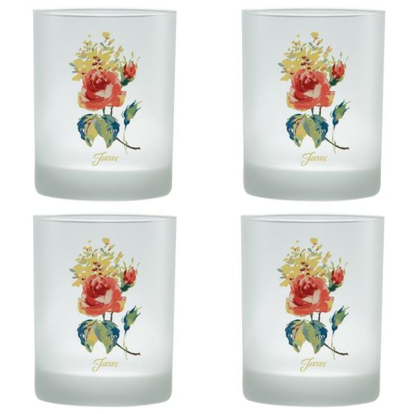 Fiesta 14 oz. Floral Bouquet Classic Double Old-Fashioned Glass 452FLOR0065-4DS