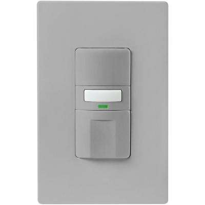Commercial Grade 120/277-Volt Dual Technology Wall-Box Mounted Occupancy Sensor, Ivory