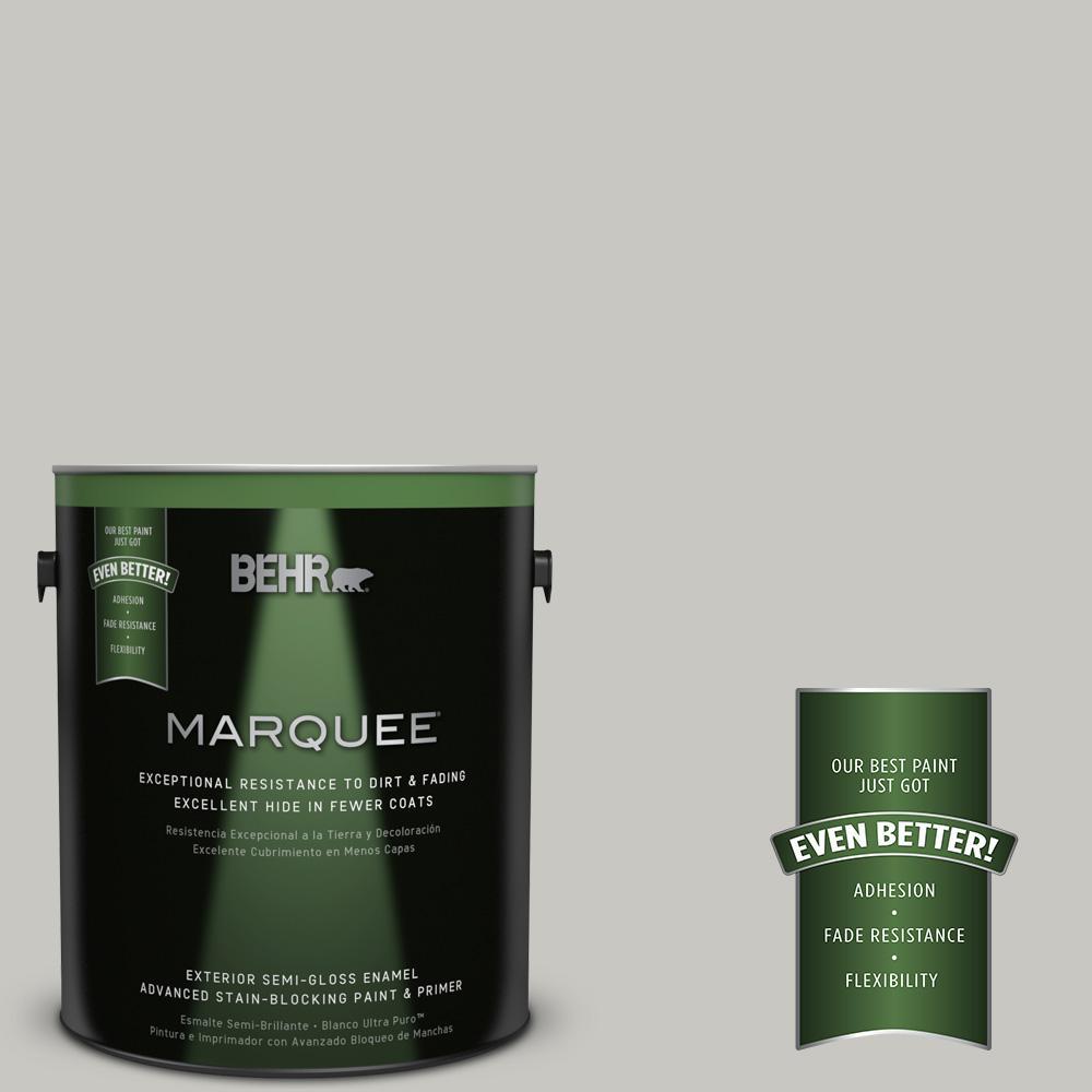 1-gal. #N360-2 Silver Marlin Semi-Gloss Enamel Exterior Paint
