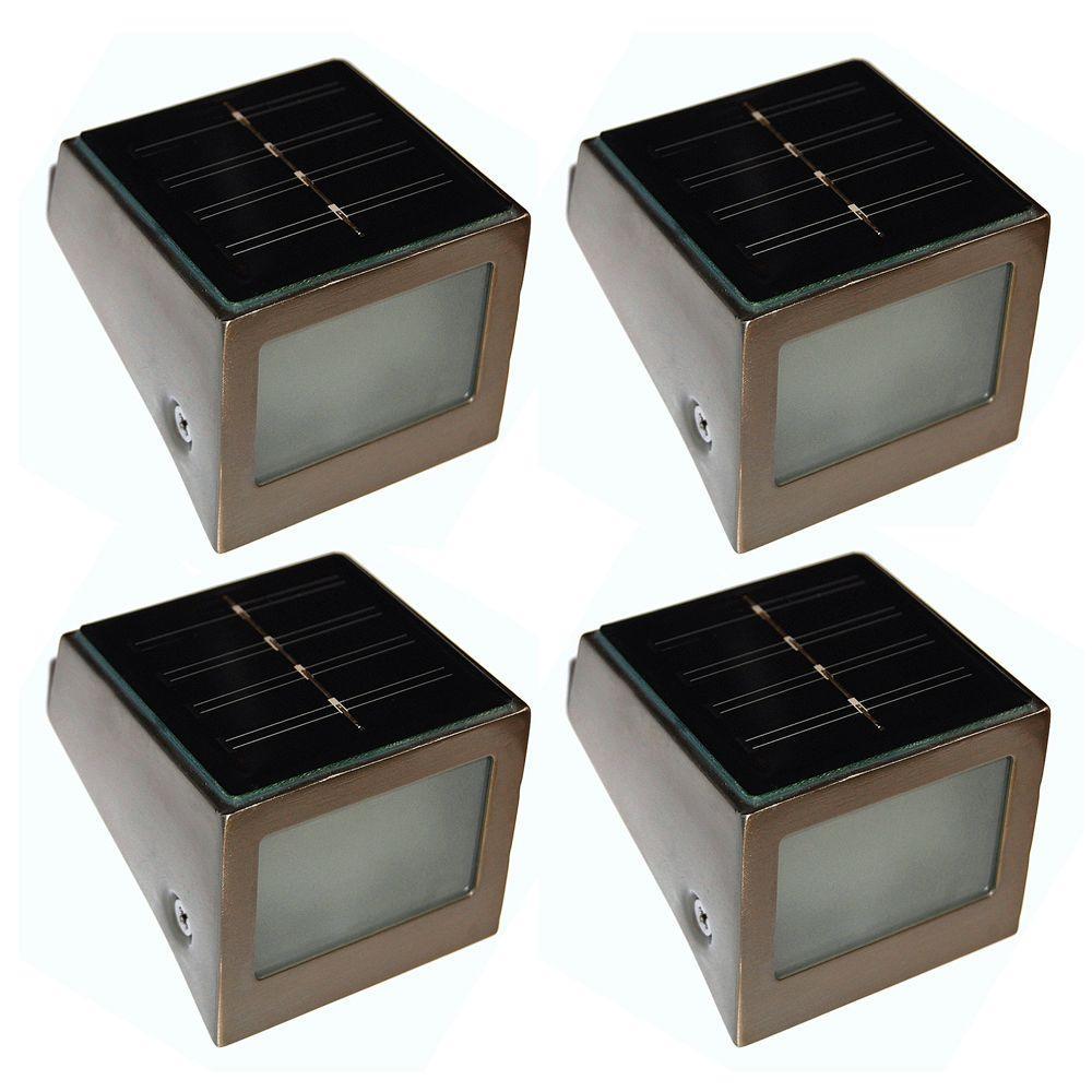 Unique Arts Solar LED Wedge Step Light - Set of 4-DISCONTINUED