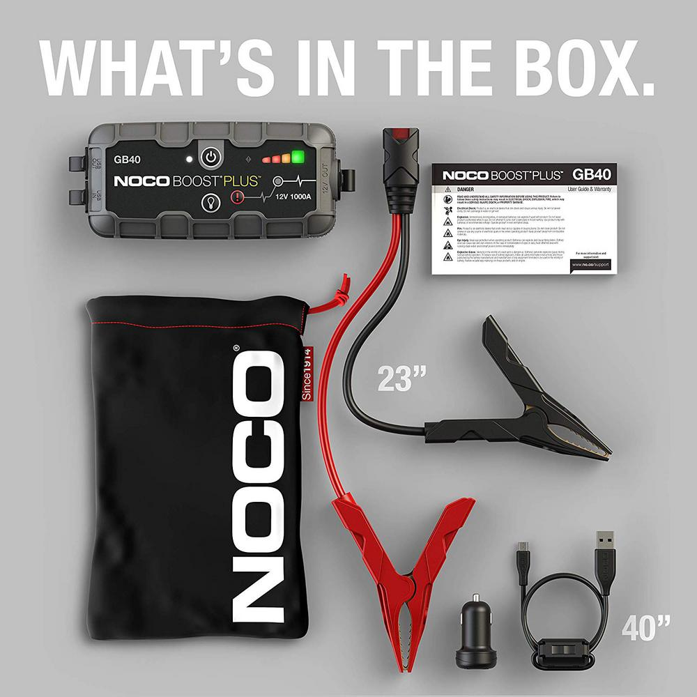 Noco GB40 Genius Boost Pack 12V 1000A Jump Starter
