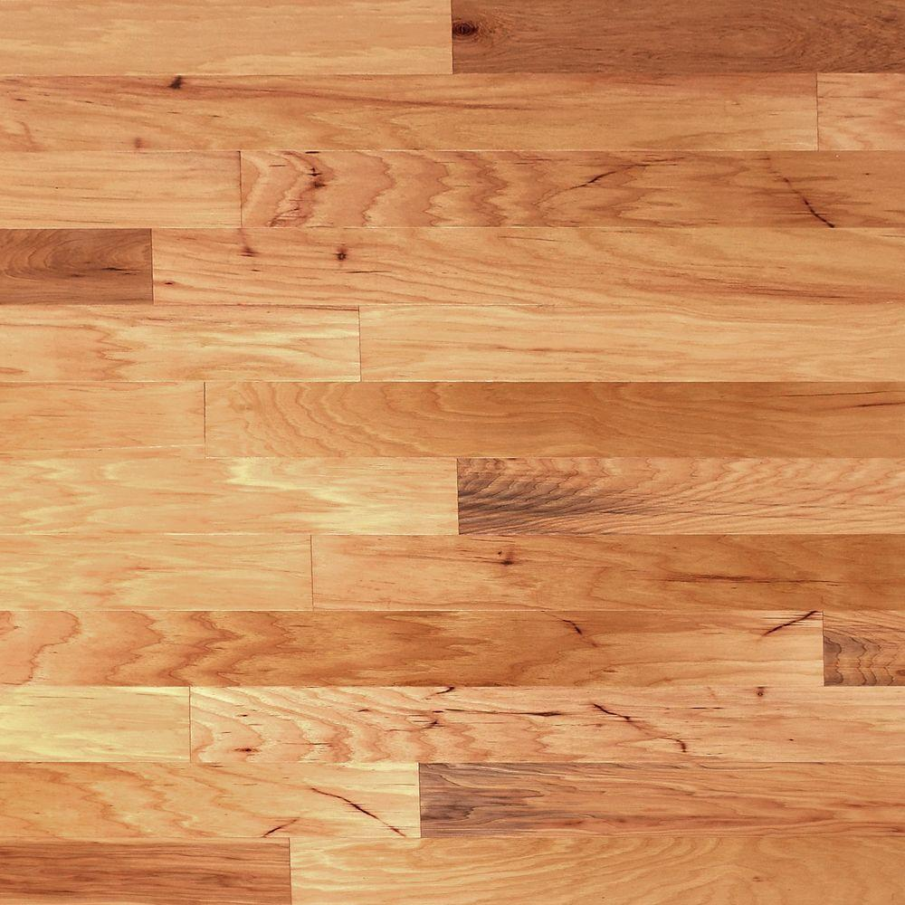 Millstead Hickory Vintage Natural 3/4 in. Thick x 4 in. Width x Random Length Solid Real Wood Flooring (21 sq. ft. / case)