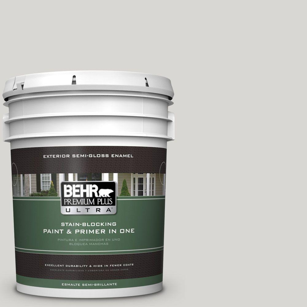 5-gal. #ICC-23 Silver Tradition Semi-Gloss Enamel Exterior Paint