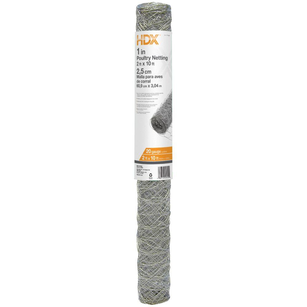 HDX 1 in. x 2 ft. x 10 ft. Poultry Netting