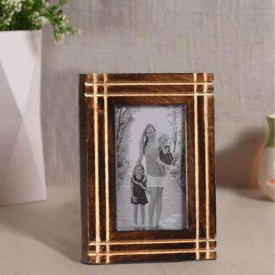 Rustic Brown 8.2 x 6.5 inch Horizontal And Vertical Handcrafted Picture Frame