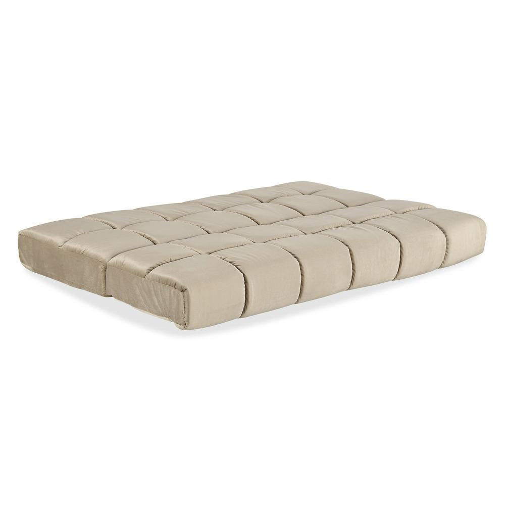 Beautyrest Full 8 in. Panel Quilted Pocketed Coil Innerspring Futon in