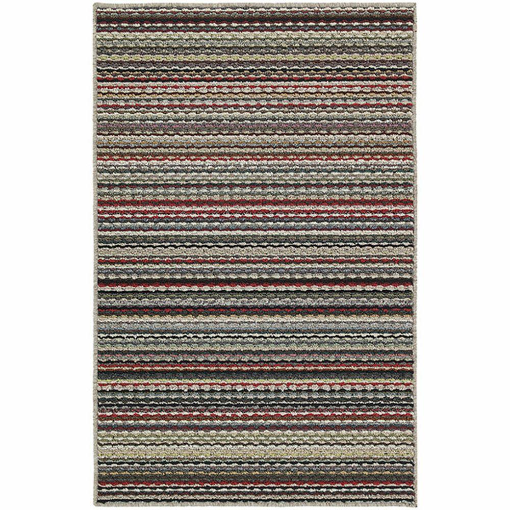 Garland Rug Carnival Stripe Random Multi 4 Ft X 6 Ft Area Rug Cv 00 0a 4872 59 The Home Depot