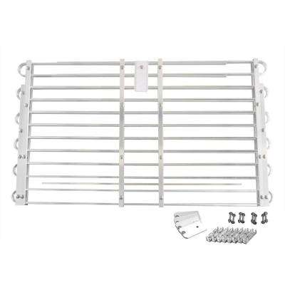 22 - 25 in. x 60 - 66 in. Adjustable Aluminum Window Well Grate