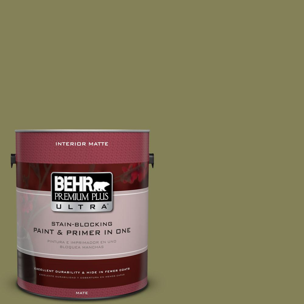 1 gal. #PMD-47 Martini Olive Flat/Matte Interior Paint