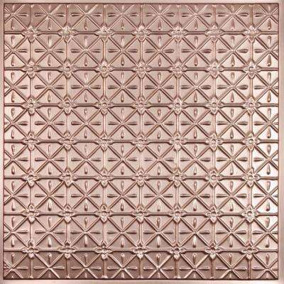 Continental Faux Copper 2 ft. x 2 ft. Lay-in or Glue-up Ceiling Panel (Case of 6)