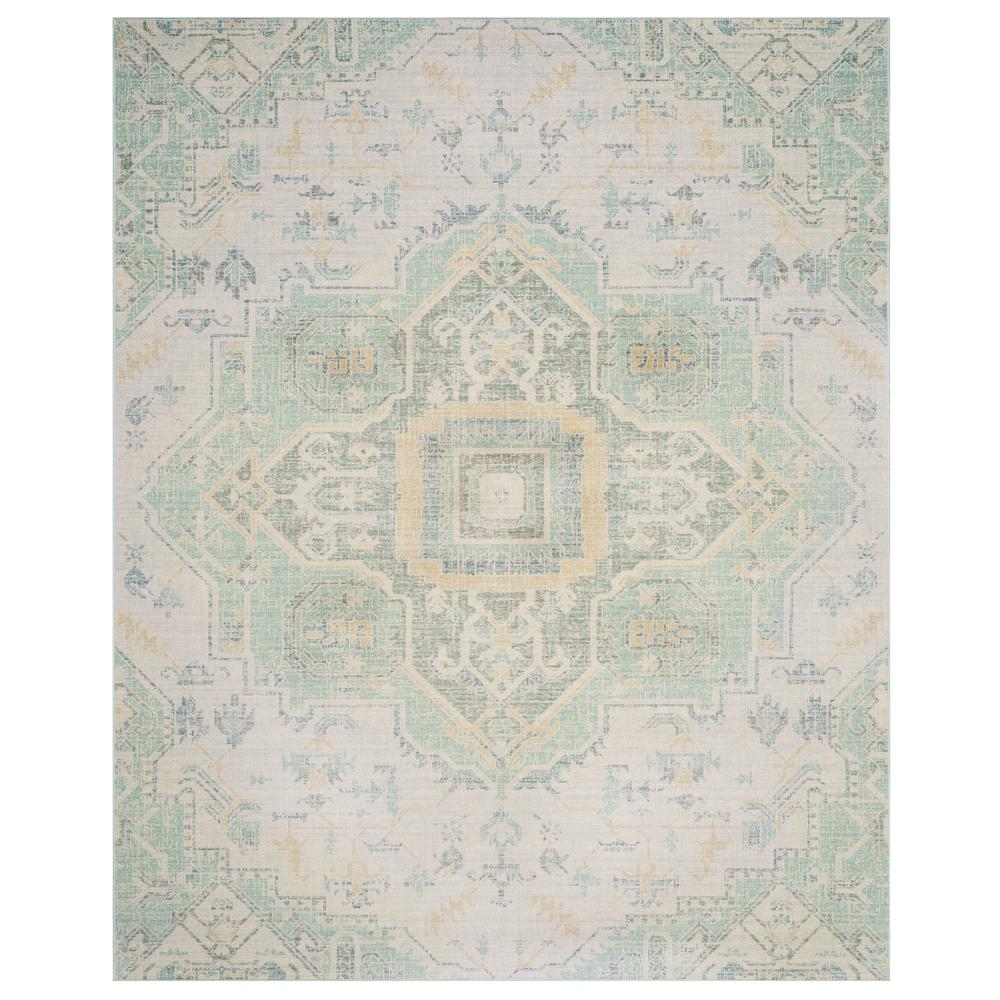 Safavieh Windsor Light Gray Seafoam 8 Ft X 10 Ft Area