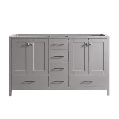Caroline Madison 60 in. W Bath Vanity Cabinet Only in Cashmere Gray
