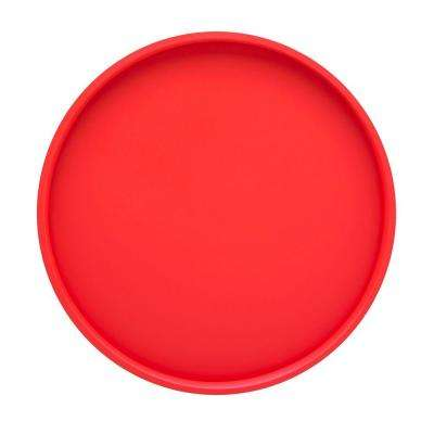 Bartenders Choice Fun Colors 14 in. Round Serving Tray in Red