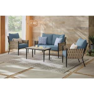 Deals on Dockview 4-Piece Metal Outdoor Patio Conversation Set