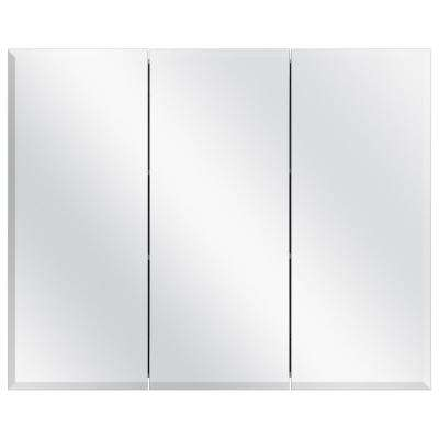 36-3/8 in. W x 30 in. H Frameless Surface-Mount Tri-View Bathroom Medicine Cabinet