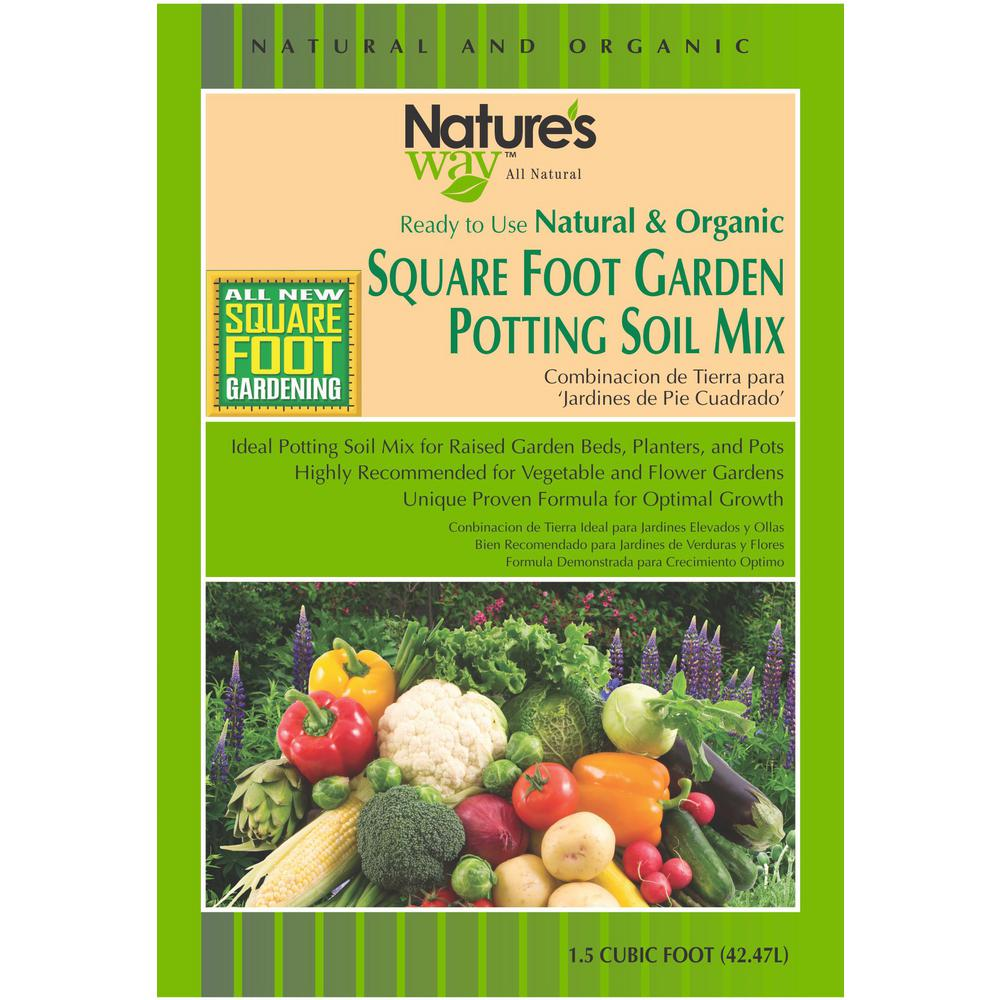 1 5 cu ft square foot gardening potting soil mix nw for Garden soil or potting soil
