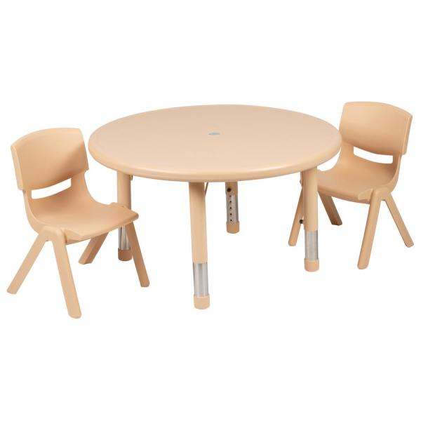 Natural Kids' Table and Chair Set