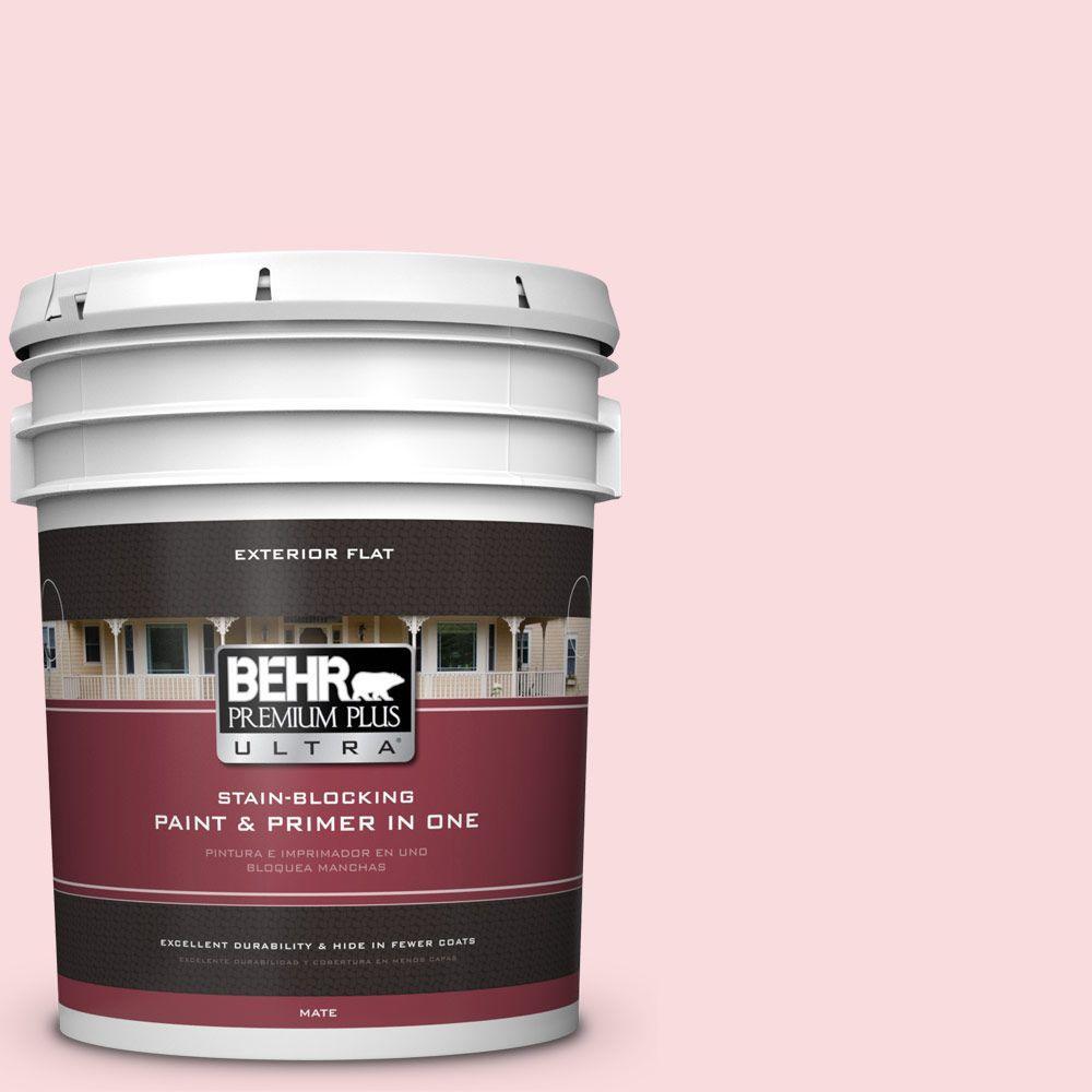 BEHR Premium Plus Ultra 5-gal. #160C-1 Floral Linen Flat Exterior Paint