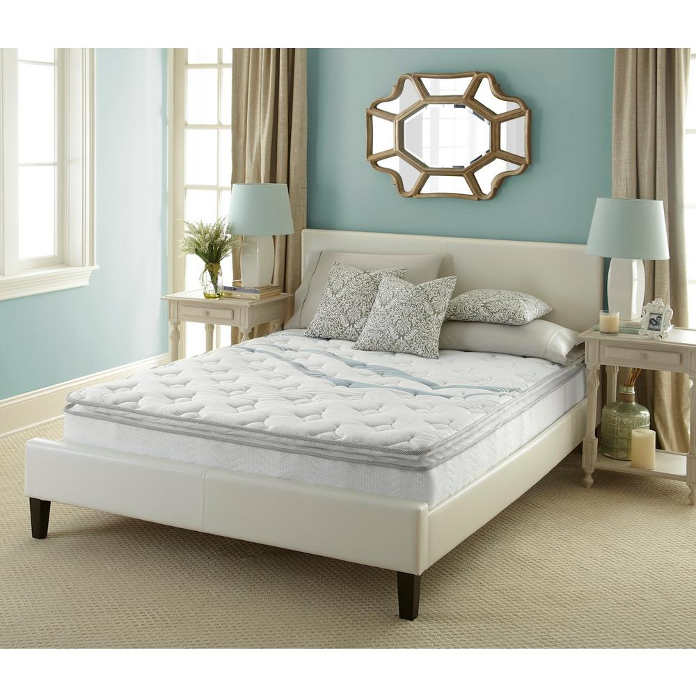 latex home comfort collection shipping hybrid inch overstock free product garden mattress today full size lucid