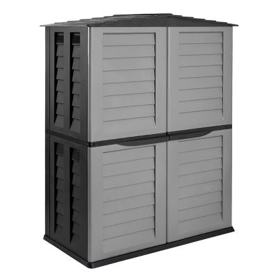 59.5 in. x 32.7 in. x 78 in. Silver/BlackTall Storage Shed