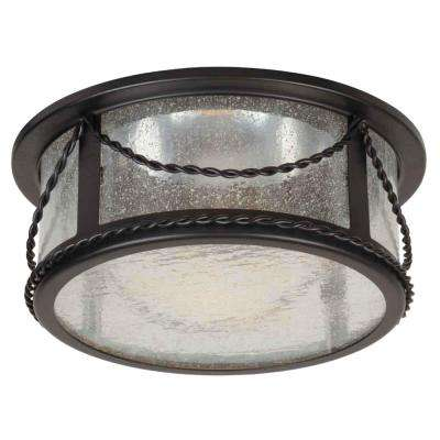 6 in hampton bay bronzecopper metallic recessed lighting oil rubbed bronze recessed deco trim with seeded glass shade mozeypictures Image collections