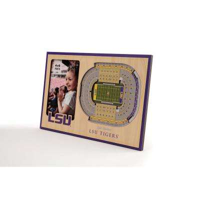 NCAA LSU Tigers Team Colored 3D StadiumView with 4 in. x 6 in. Picture Frame