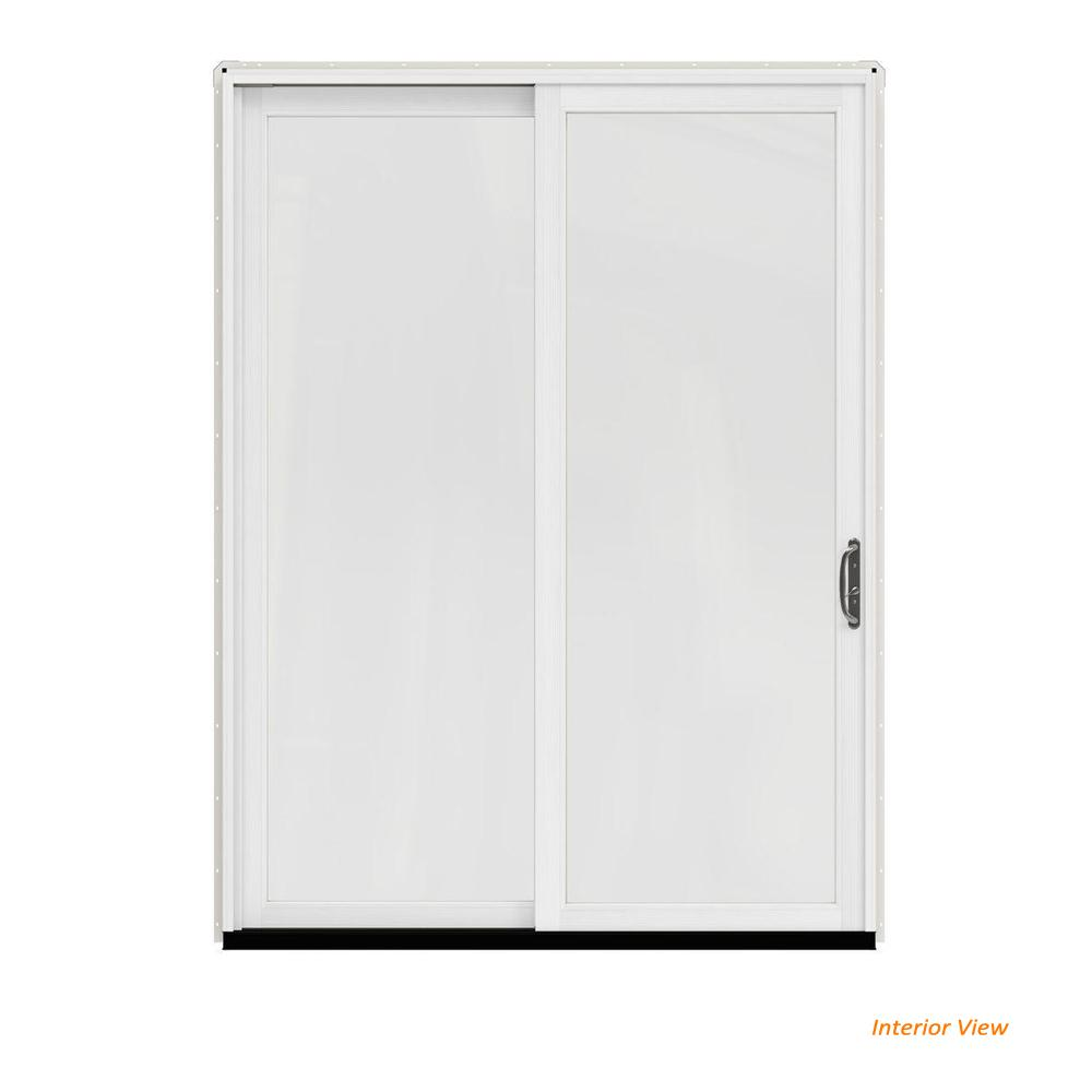 Merveilleux W 2500 Contemporary White Clad Wood Right Hand Full Lite Sliding Patio Door  W/White Paint Interior