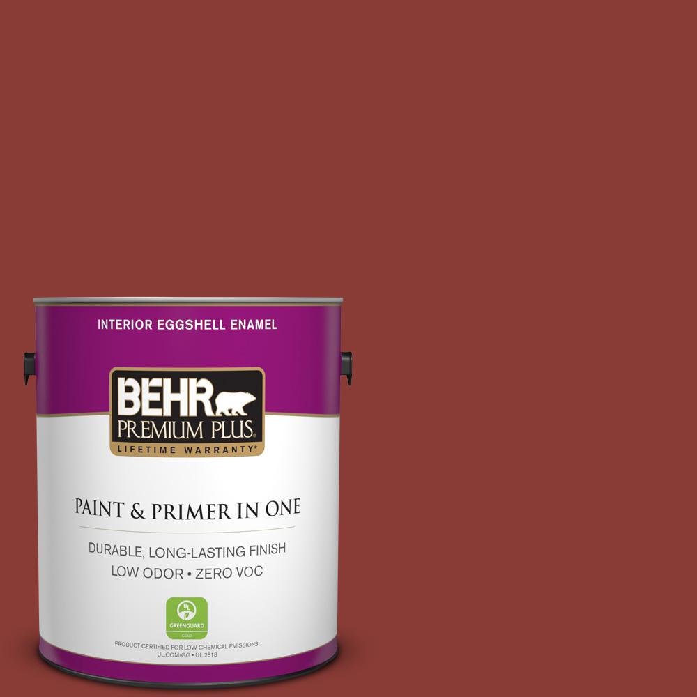 BEHR Premium Plus 1-gal. #PPF-30 Deep Terra Cotta Zero VOC Eggshell Enamel Interior Paint