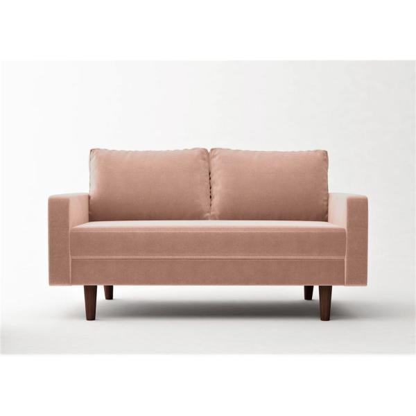 Us Pride Furniture Viva 57 8 In Rose Velvet 2 Seater Loveseat With Removable Cushions S5632 L The Home Depot