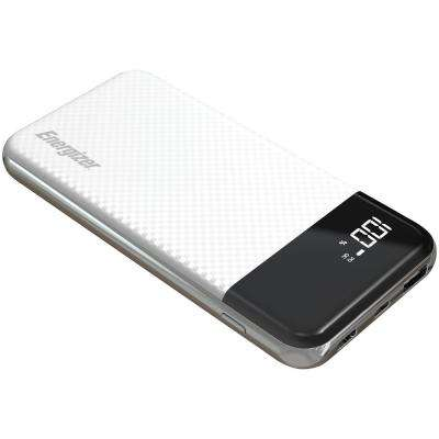 10,000 Fast-Charging Power Bank with 2 USB Ports in White