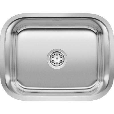 Stellar 23 in. x 17.75 in. x 12 in. Stainless Steel Undermount Laundry Sink in Brushed Satin