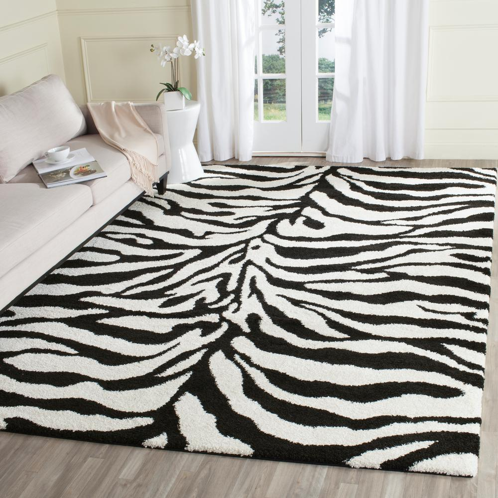 Zebra Rug Large: Safavieh Montreal Shag Periwinkle/Ivory 8 Ft. X 10 Ft