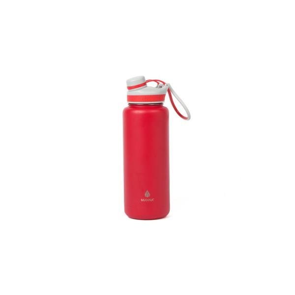 Manna Ranger Pro 40 oz. Red Double Wall Stainless Steel Bottle