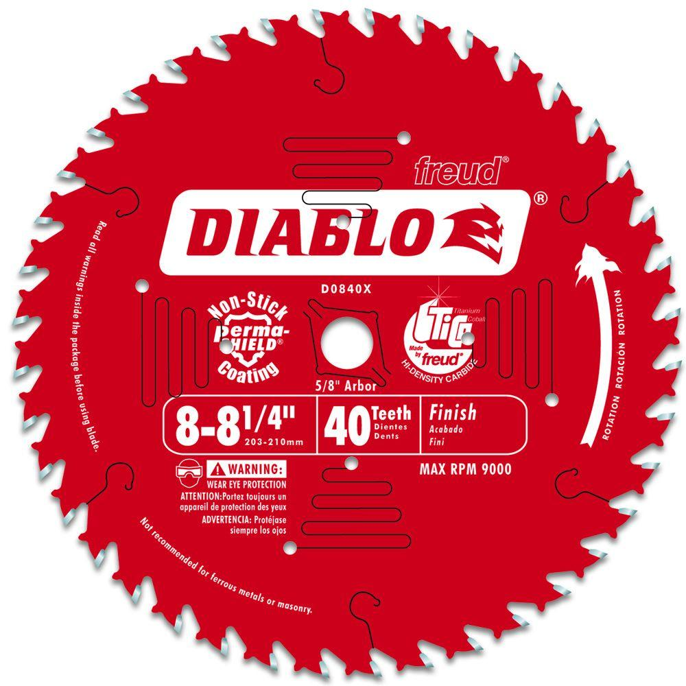 Diablo 8-1/4 in. x 40-Tooth Finish Saw Blade