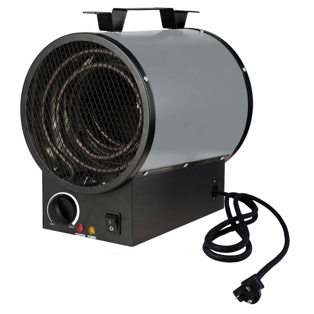 240-Volt 4000-Watt Portable Shop Heater in Gray
