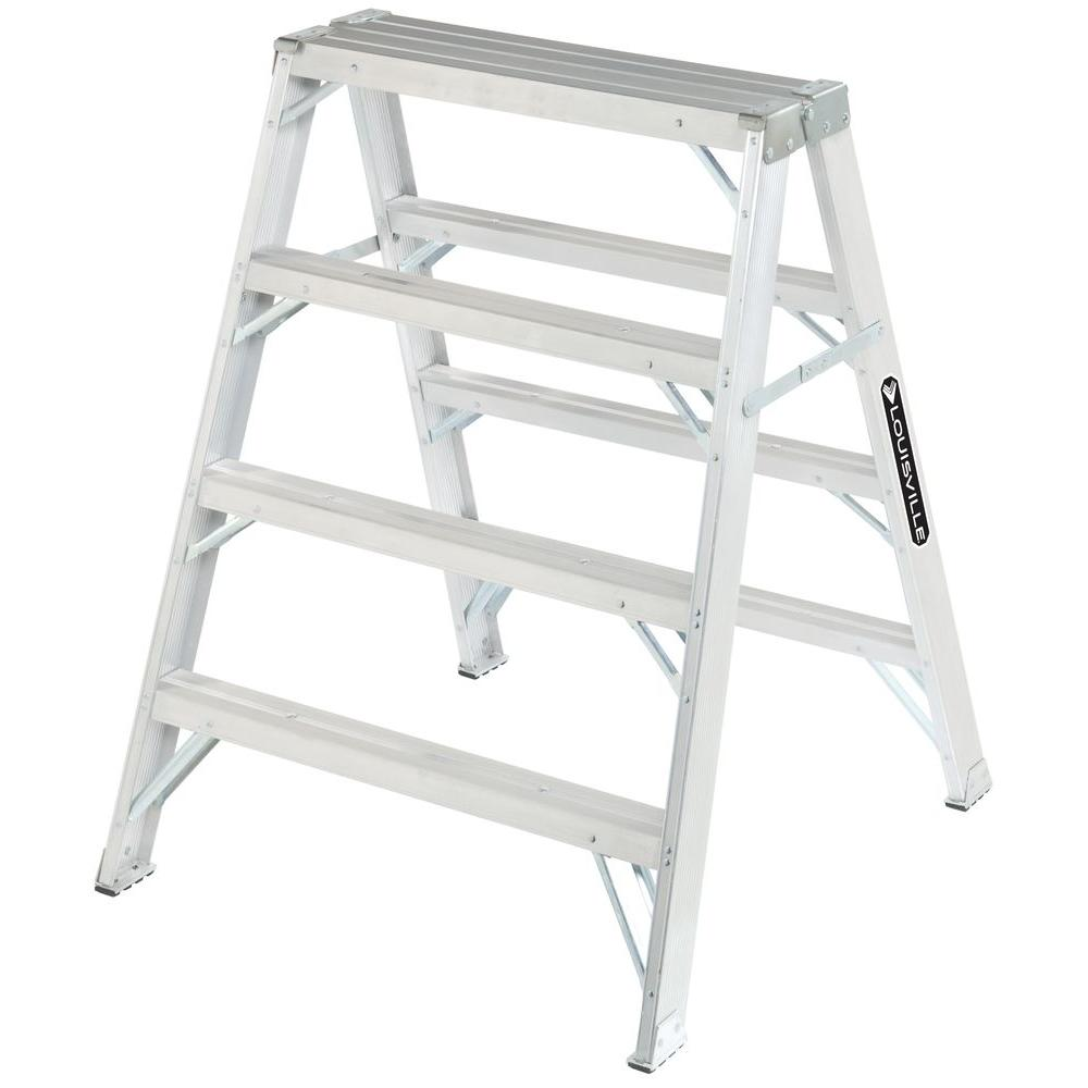 Louisville Ladder 4 ft. Aluminum Step Ladder with 300 lb. Load Capacity Type IA Duty Rating