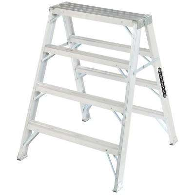 4 ft. Aluminum Step Ladder with 300 lb. Load Capacity Type IA Duty Rating