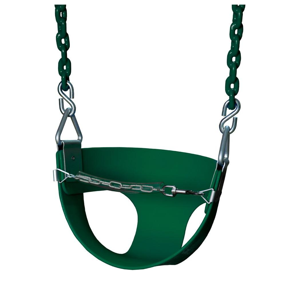 Gorilla Playsets Half-Bucket Swing with Chain in Green