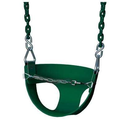 Half-Bucket Swing with Chain in Green