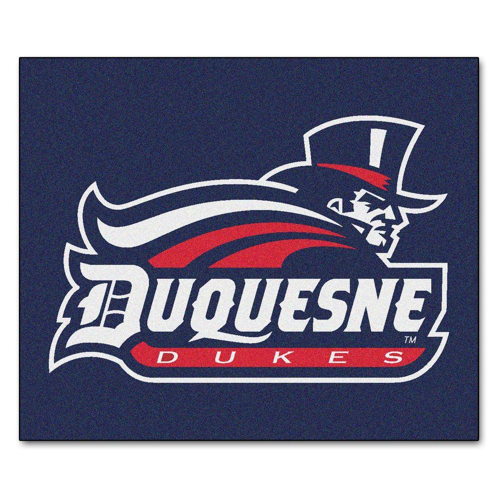 NCAA Duquesne University Blue 5 ft. x 6 ft. Area Rug