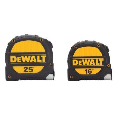 25 ft. x 1-1/4 in. and 16 ft. x 1-1/4 in. Tape Measure Set (2-Pack)