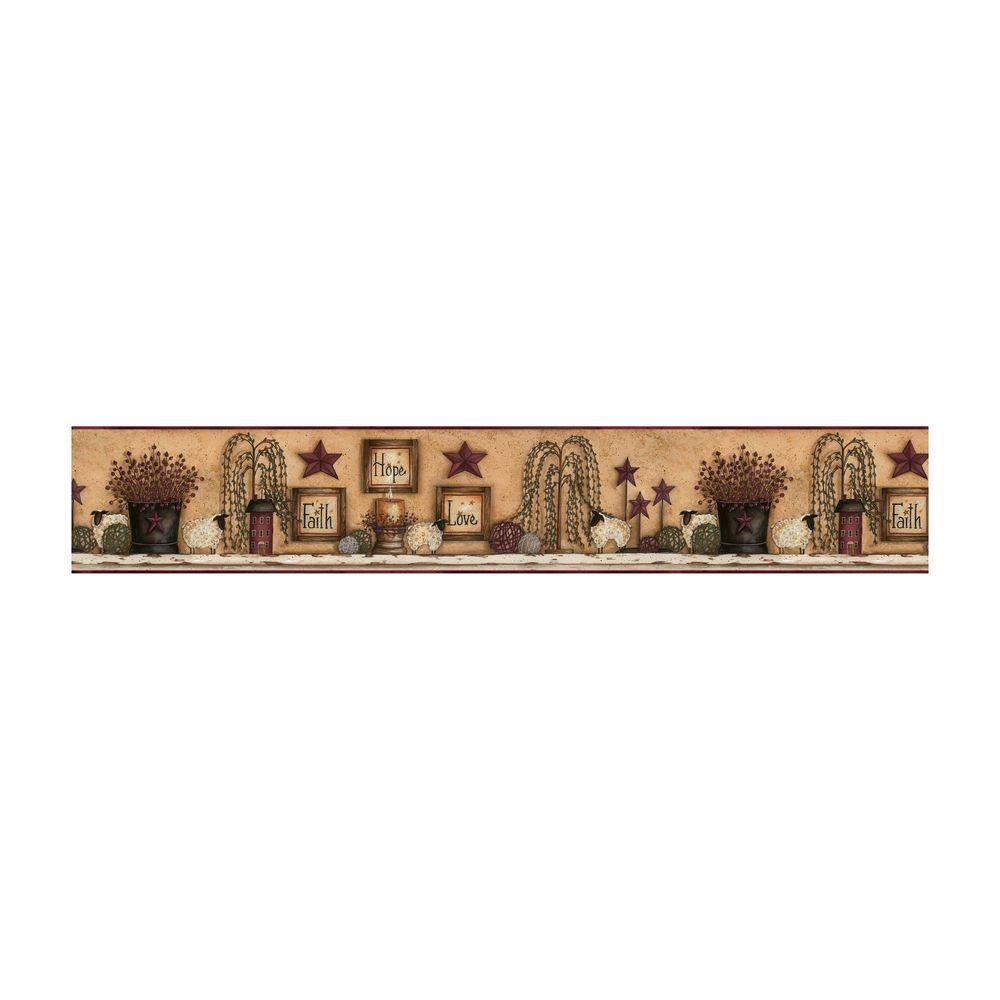 Best of Country Faith Hope Love Shelf Wallpaper Border