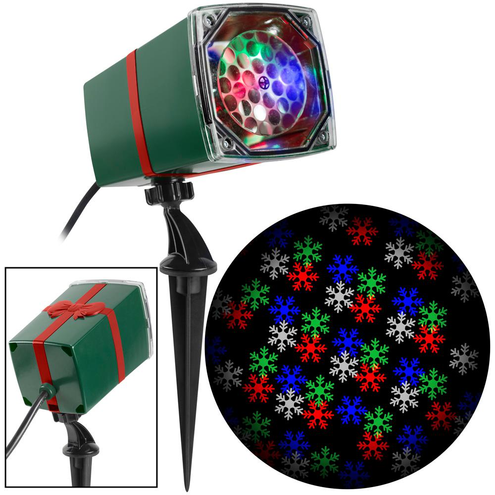LightShow Color Changing Christmas LightShow Projection MotionMosaic with Remote-Snowflake