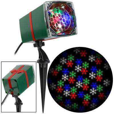 Color Changing Christmas LightShow Projection MotionMosaic with Remote-Snowflake