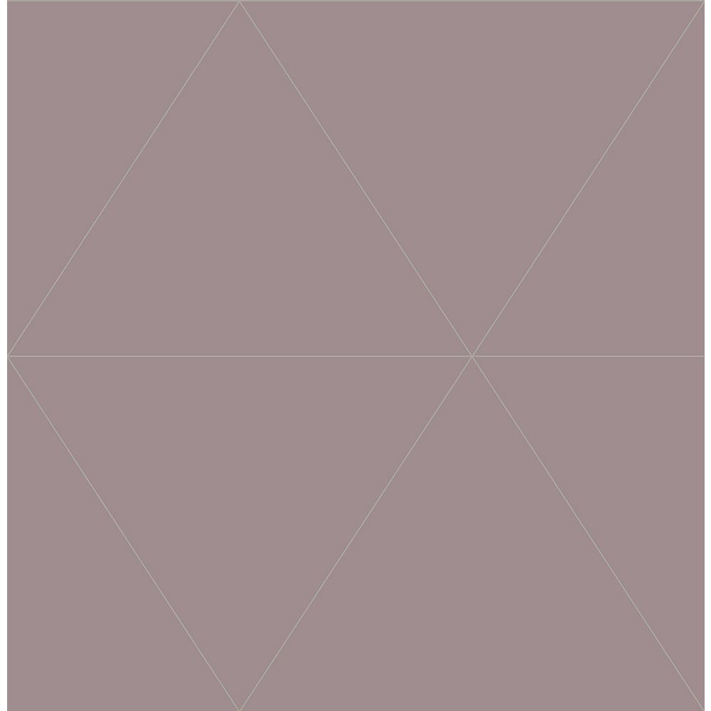 A-Street 8 in. x 10 in. Twilight Purple Geometric Wallpaper Sample